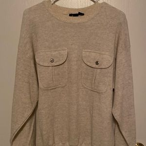 Utility-style sweater